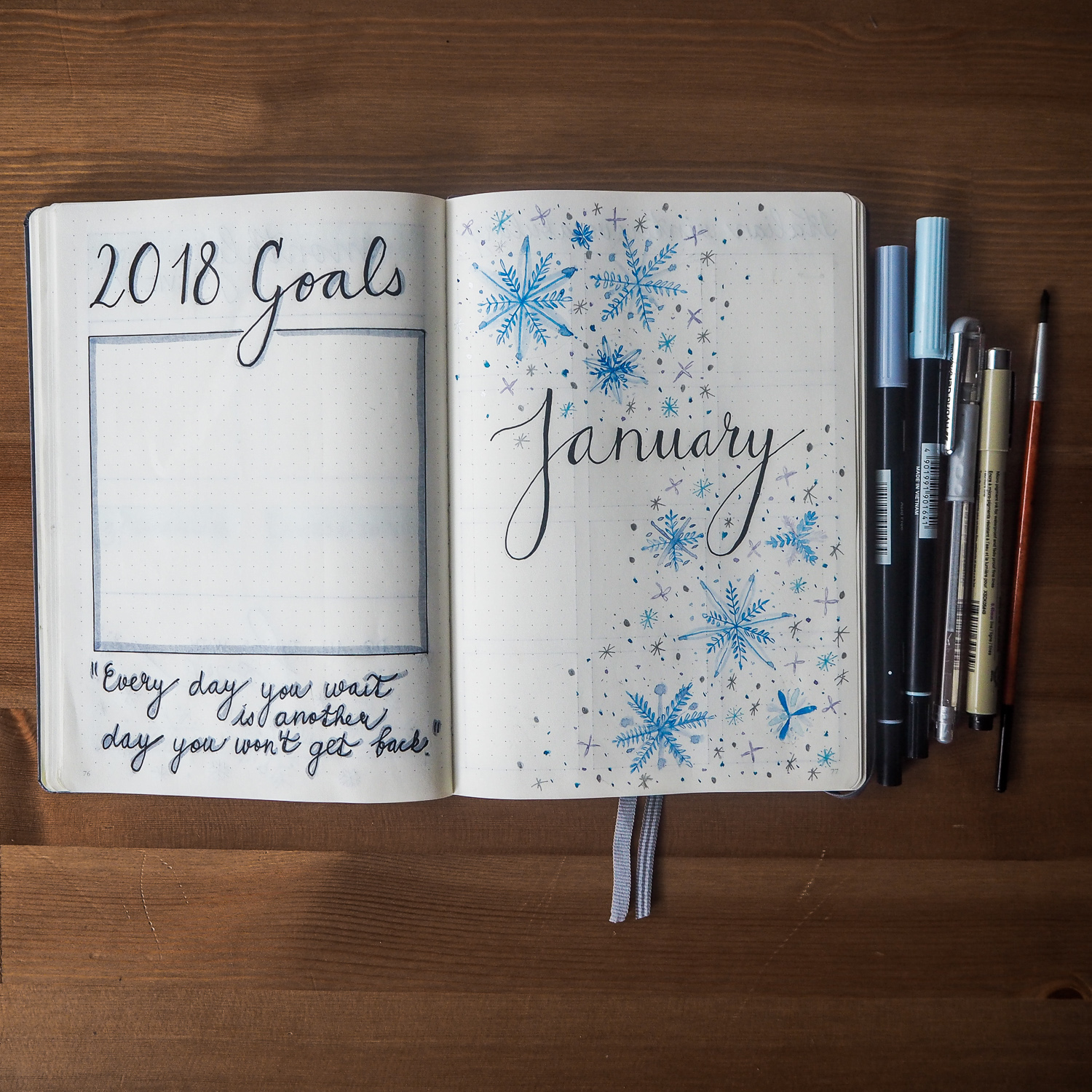 Bullet Journal January layout