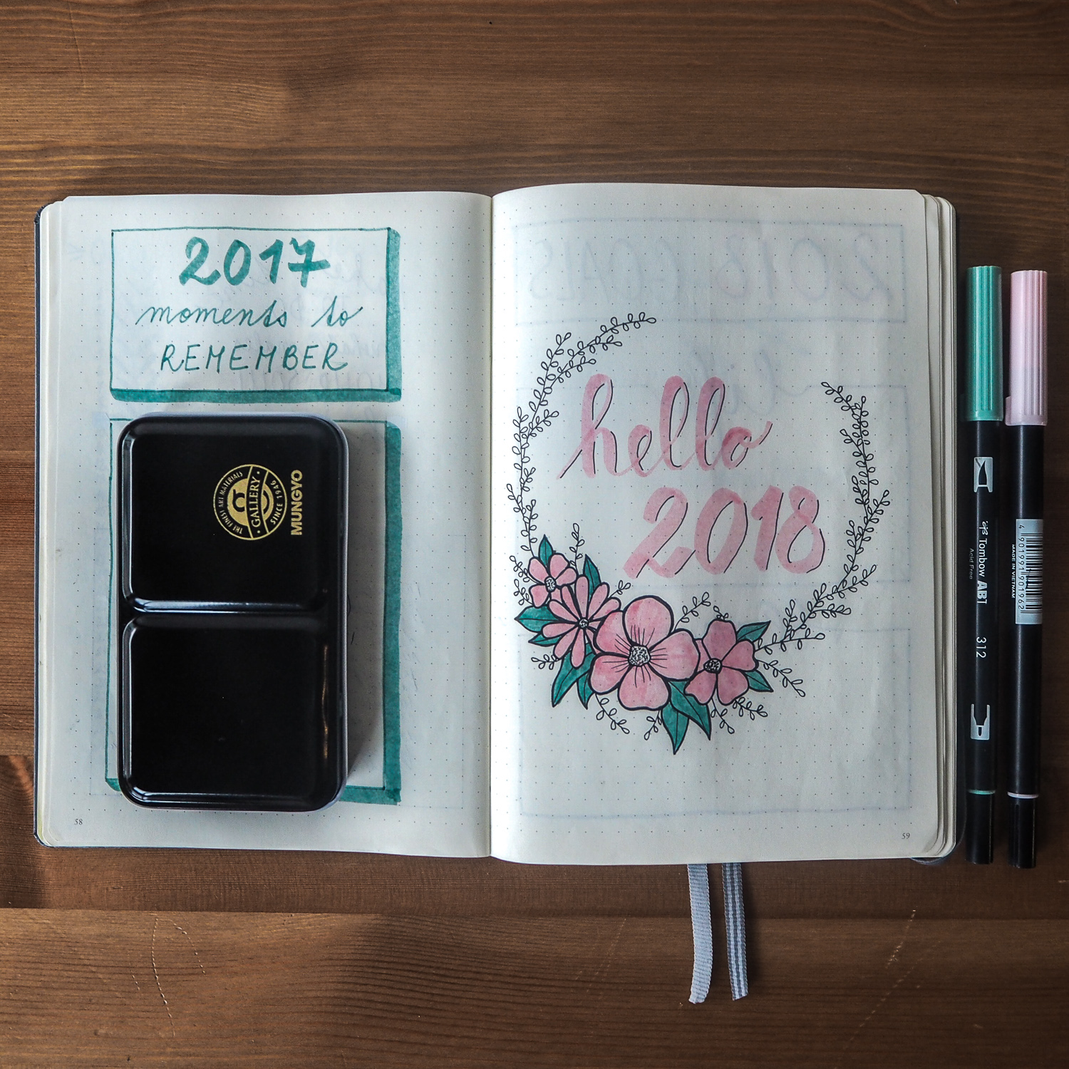 Bullet Journal January setup